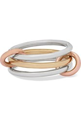 Spinelli Kilcollin Solarium Set Of Three 18 Karat Yellow And Rose Gold And Sterling Silver Rings 6