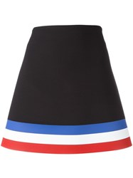 J.W.Anderson Striped Hem Mini Skirt Black