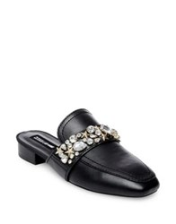 Design Lab Lord And Taylor Slina Embellished Leather Mules Black