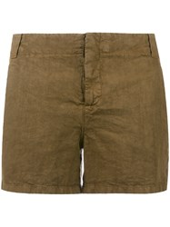 Aspesi Flap Pocket Shorts Women Linen Flax 44 Brown