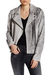 Lamarque Genuine Leather Kanya Jacket Gray