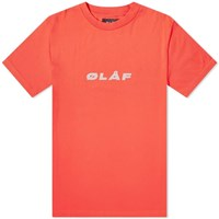 Olaf Hussein Reflective Italic Tee Red