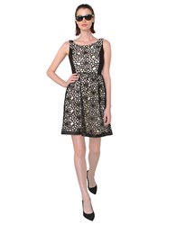 Isaac Mizrahi Black Ivy Lace Fit And Flare Dress