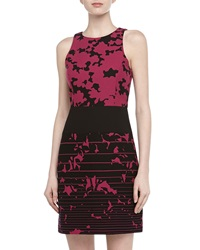 4.Collective Sleeveless Floral And Stripe Print Dress Plum