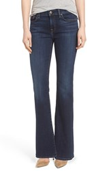 Petite Women's 7 For All Mankind 'Tailorless' Bootcut Jeans Nouveau Ny Dark