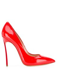 Casadei Pointed Toe Stiletto Pumps Red