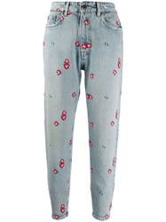 Miu Miu Embroidered Floral Tapered Jeans 60