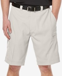 Callaway Men's Big And Tall Performance Cargo Shorts Silver Lining