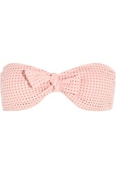 Melissa Odabash Aruba Perforated Bandeau Bikini Top Blush