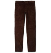 Anderson And Sheppard Slim Fit Cotton Corduroy Trousers Dark Brown