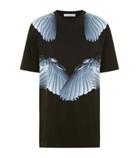 Givenchy Feather Wing Print Oversized T Shirt Female Black