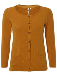 White Stuff New Samphire Cardigan Mustard Yellow