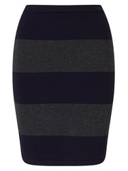 Phase Eight Lia Rugby Stripe Skirt Navy