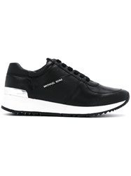 Michael Michael Kors Lace Up Sneakers With Logo Leather Polyamide Rubber Black