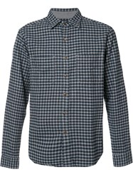Alex Mill Front Pockets Checked Shirt Blue