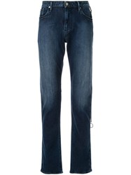 Emporio Armani Faded Detail Jeans Blue