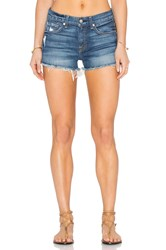 7 For All Mankind Distressed Cut Off Short Aggressive Bright Indigo 2