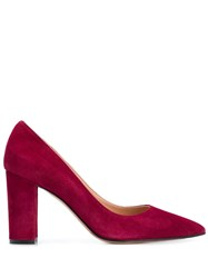The Seller Suede Pumps Red