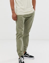 French Connection Chino Cuff Trousers Green