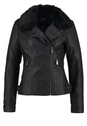 Wallis Faux Leather Jacket Black