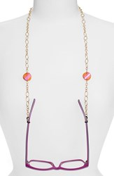 Women's L. Erickson 'Spellbound' Eyeglass Chain Crystal Astral Pink Gold