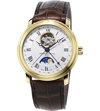 Frederique Constant Fc 335Mc4p5 Moonphase Heart Beat Yellow Gold Plated Watch Mixed