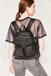 Urban Outfitters Leather Grommet Backpack Black
