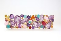 Sharon Khazzam Pandora Bracelet Purple Yellow Pink