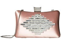 Badgley Mischka Aero Blush Clutch Handbags Pink