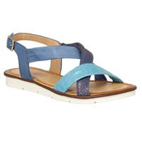 Lotus Aello Leather Strappy Sandals Blue