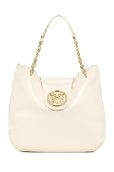 Love Moschino Leather Chain Strap Hobo White
