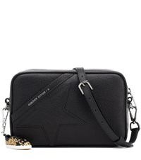 Golden Goose Star Leather Shoulder Bag Black