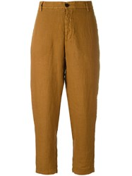 Barena Cropped Trousers Brown