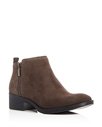 Kenneth Cole Levon Low Heel Booties Asphault Brown