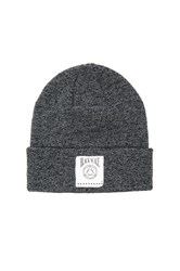 Black Scale Geo Logo Beanie Gray
