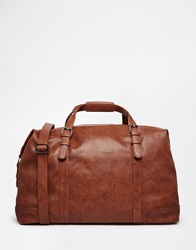 New Look Faux Leather Holdall Bag Brown