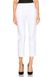 Kaufman Franco Kaufmanfranco Compact Cotton Trousers In White