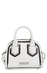 Kendall Kylie Holly Mini Leather Satchel White