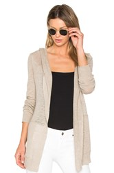 White Warren Hooded Cardigan Beige