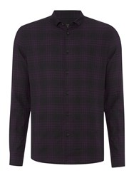 Label Lab Buxton Check Long Sleeve Classic Collar Shirt Grey
