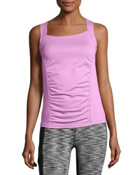 Soybu Alecia Cross Back Performance Tank Purple