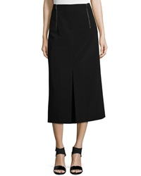 Dkny Long Skirt W Inverted Pleat