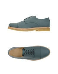 Carven Lace Up Shoes Green