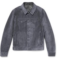 Berluti Suede Trucker Jacket Anthracite