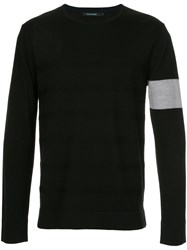 Guild Prime Stripe Detail Jumper Acrylic Wool Black