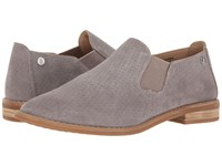 Hush Puppies Analise Clever Frost Grey Suede Perf Women's Slip On Dress Shoes Gray