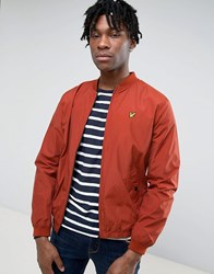 Lyle And Scott Long Sleeve Light Weight Bomber Jacket Brown