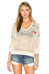 Wildfox Couture Rad Embroidery Top Beige
