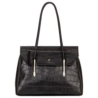 Fiorelli Carlton Flap Over Tote Bag Black Croc