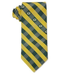 Eagles Wings Green Bay Packers Checked Tie Black Yellow
